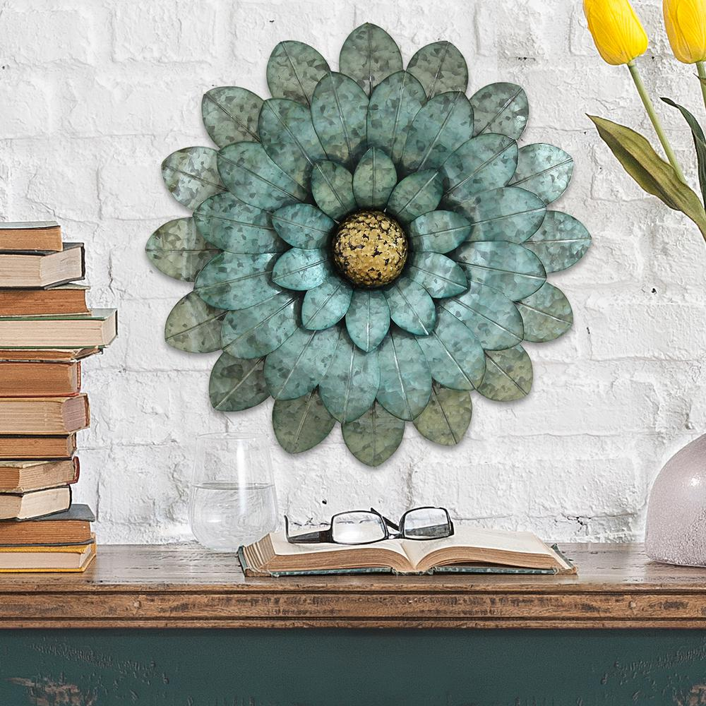 Stratton Home Morning Morning Glory Metal Flower Wall ... on Hanging Wall Sconces For Flowers id=91777