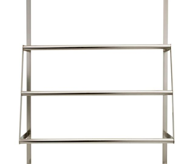 Over The Door  Bar Towel Rack In Brushed Nickel
