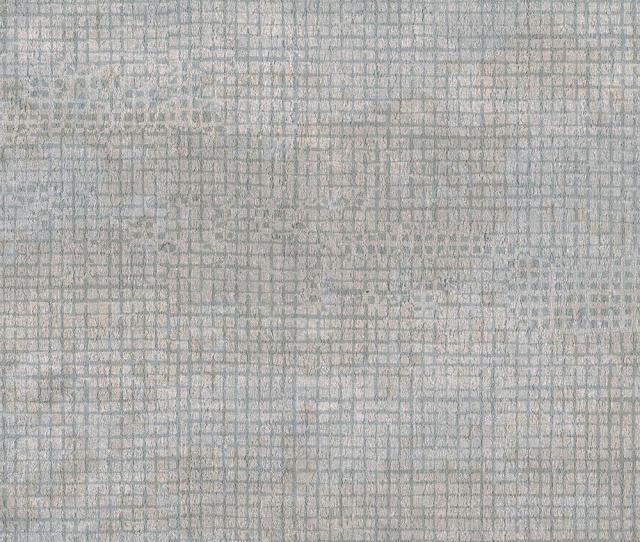 Brewster Grey Grid Texture Wallpaper