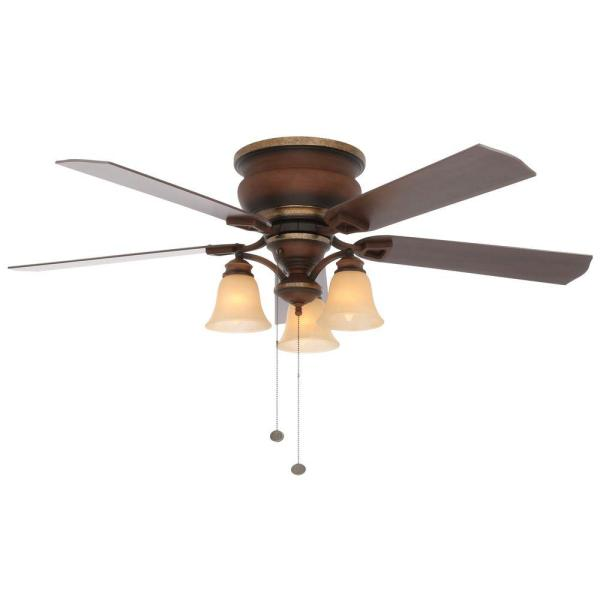 Hampton Bay Eastvale 52 in  Indoor Berre Walnut Ceiling Fan with     Indoor Berre Walnut Ceiling Fan with Light Kit