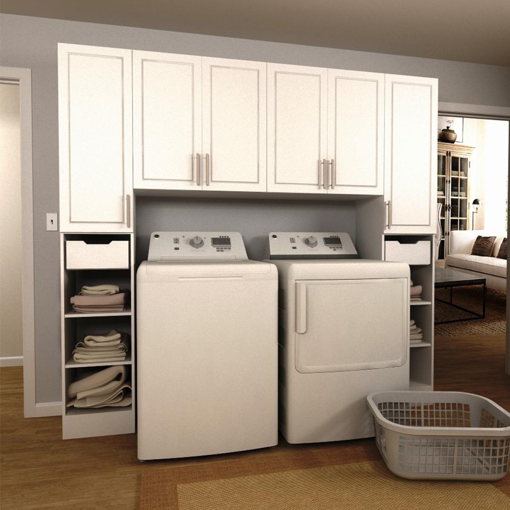 Modifi Madison 90 in. W White Tower Storage Laundry ... on Laundry Room Cabinets  id=90735
