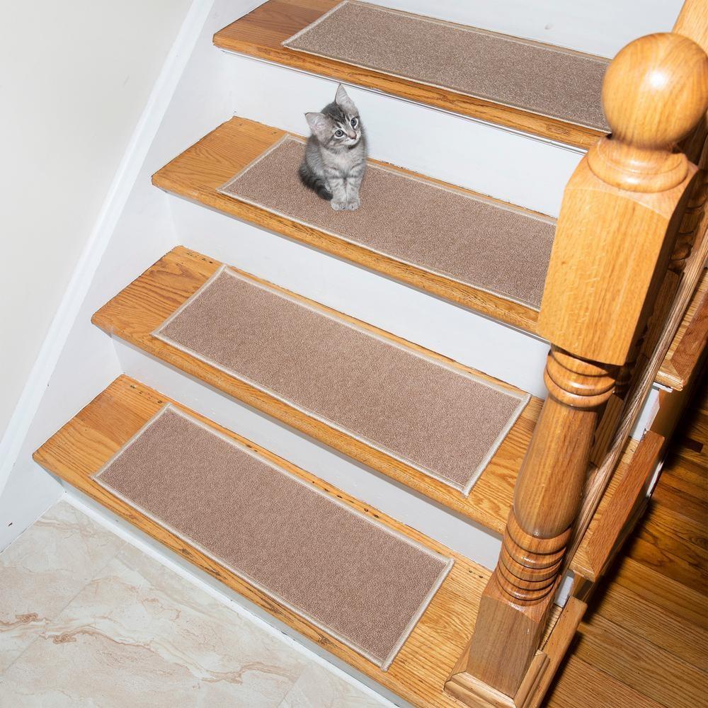 Dark Red Set Of 13 Stair Treads Non Slip Carpet Indoor Set Of 13 | Non Slip Carpet Stair Treads Indoor | Rubber Backing | Decor Rugs | Slip Resistant | Pure Era | Flooring
