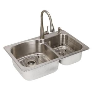 Glacier Bay All In One Dual Mount Stainless Steel 33 In 2