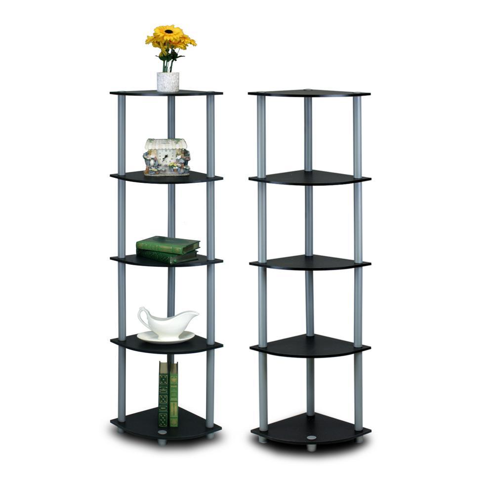 Casual Home Black Folding Corner Open Bookcase 2769600210
