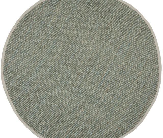 Safavieh Natural Fiber Gray  Ft X  Ft Round Area Rug