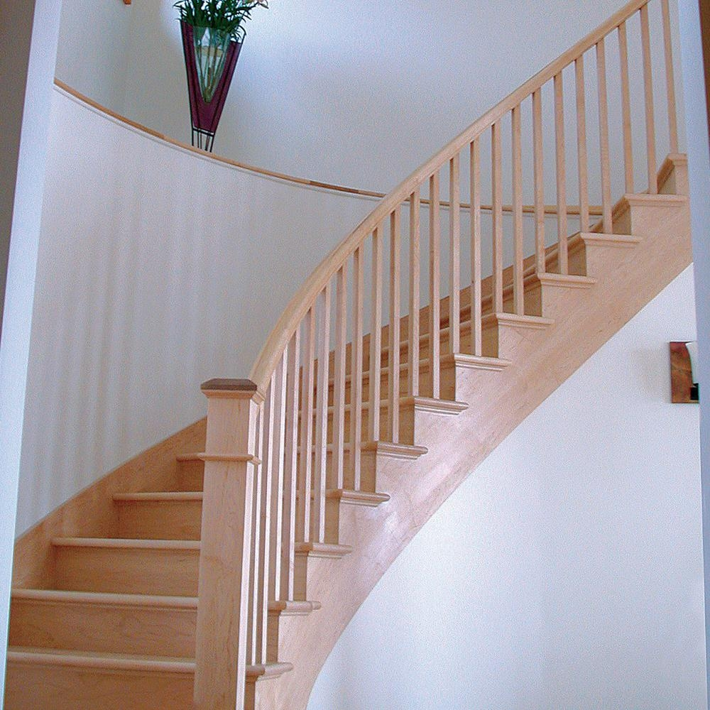 Stair Parts 41 In X 1 1 4 In Unfinished Red Oak Square Baluster | Interior Railings Home Depot | Metal | Pre Assembled | Indoor | Interior Diy Stair | Plastic