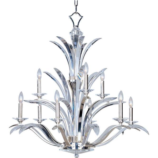 Maxim Lighting Paradise 9 Light Plated Silver Multi Tier Chandelier