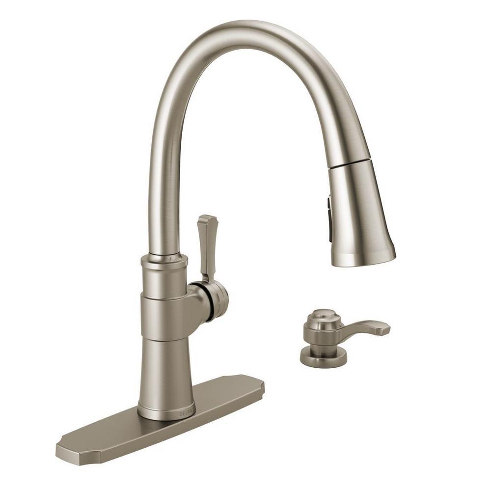 faucets delta zalia single handle pull