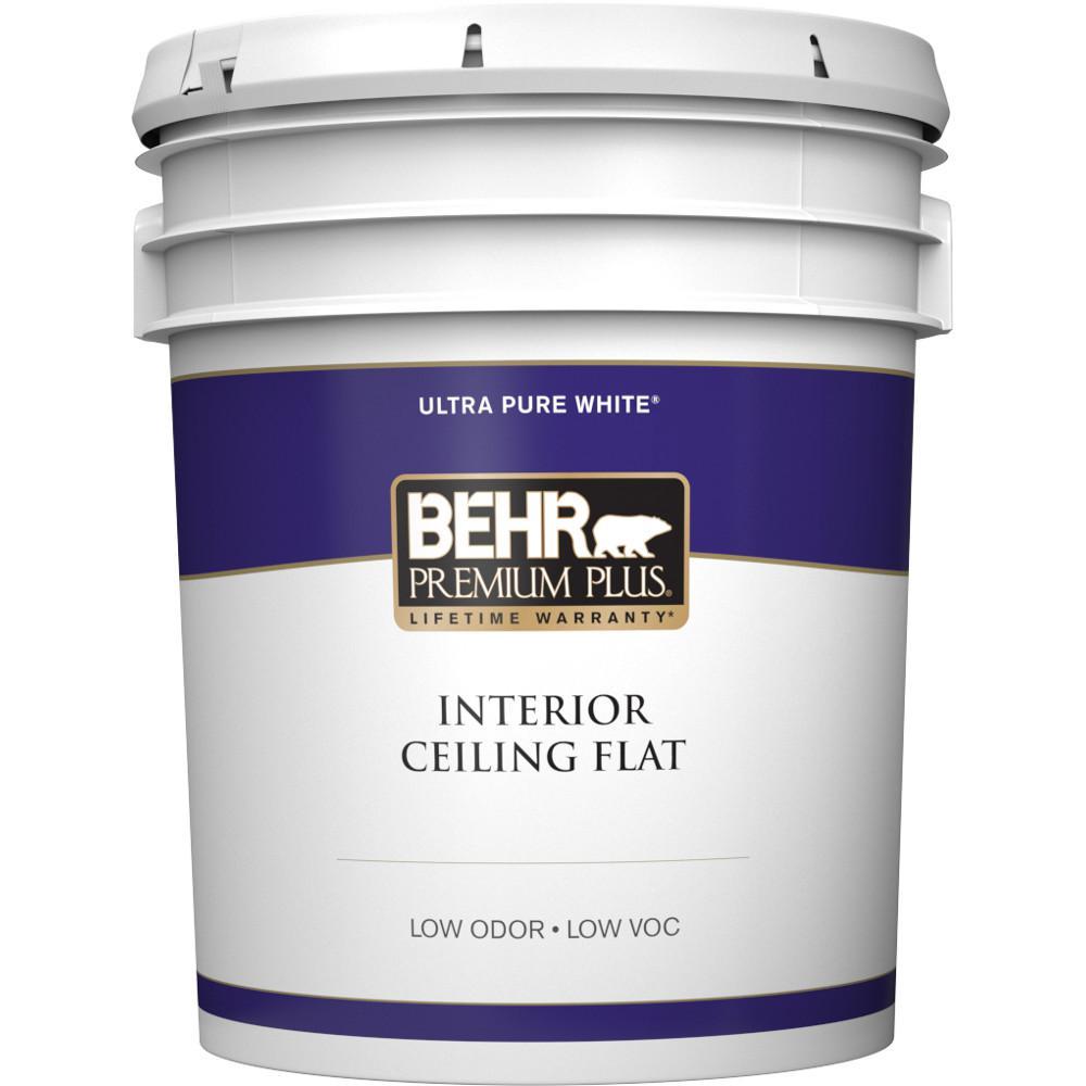 Behr Premium Plus 5 Gallon Flat Interior Ceiling Paint