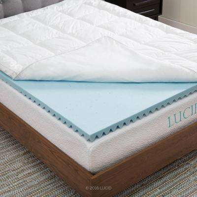 Full Xl Hybrid Down Alternative Gel Infused Memory Foam Mattress Pad