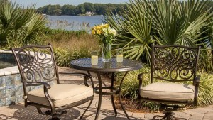 Hanover Traditions 3 Piece Patio Bistro Set With 2 Cast