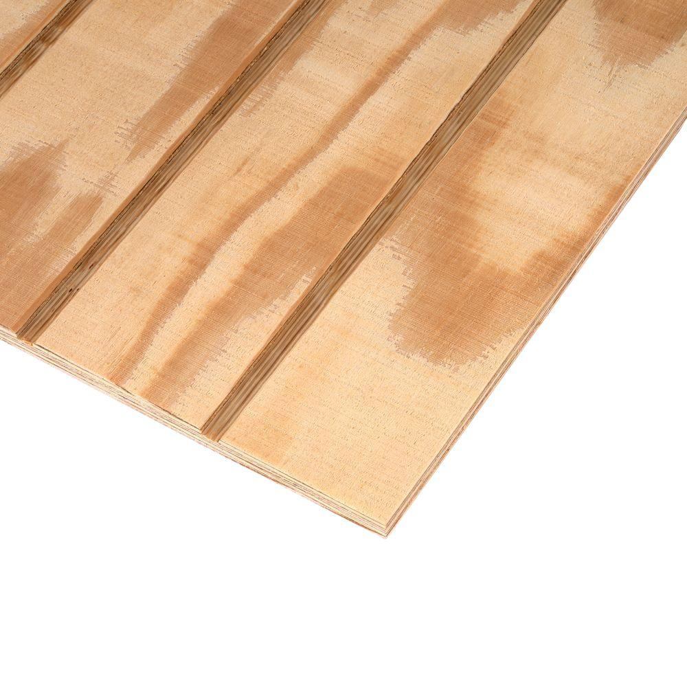 Plywood Siding Panel T1 11 4 In Oc Nominal 19 32 In X 4