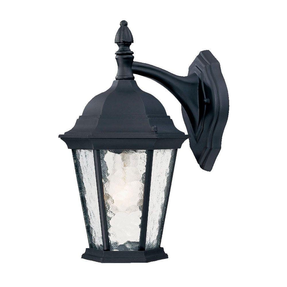 Acclaim Lighting Telfair Collection 1-Light Matte Black ... on Outdoor Lighting Fixtures Wall Mounted id=11271