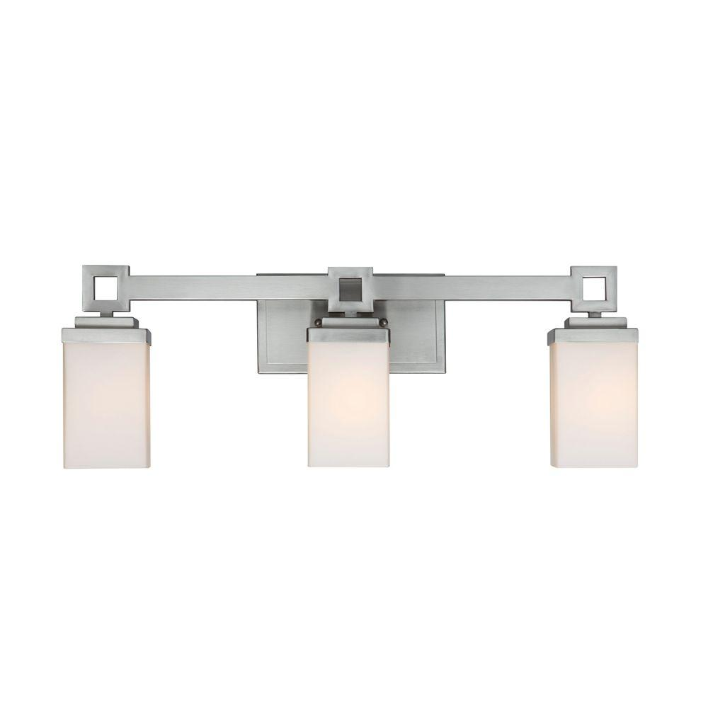 Golden Lighting Nelio Collection 3-Light Pewter Bath ...