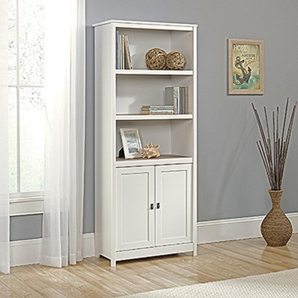 Tall White Bookshelf Doors