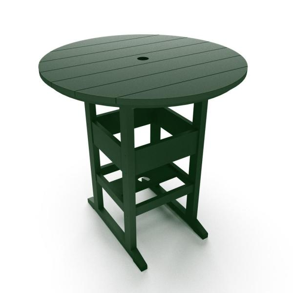 outdoor patio bar height tables DuraWood Outdoor Plastic Bar Height Outdoor Dining Table