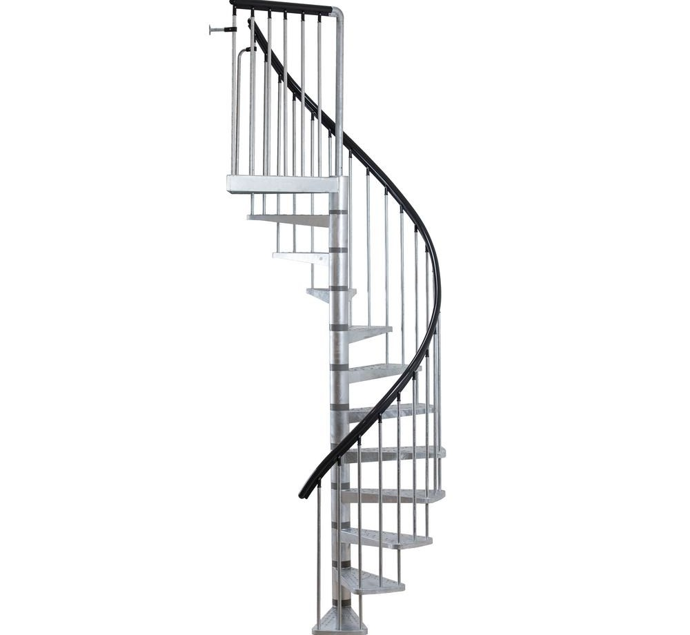 Dolle Toronto V3 9 Ft 3 In Galvanized Stair Kit 68254 The Home Depot | Spiral Staircase For Sale