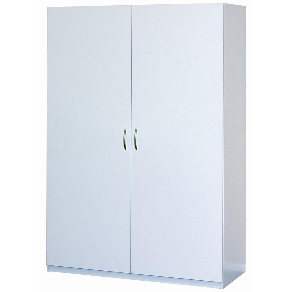 ClosetMaid 48 in  Multi Purpose Wardrobe Cabinet in White 12336     Multi Purpose Wardrobe Cabinet in White