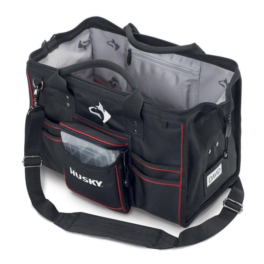 Tool Bag Tote Storage Organizer 31 Internal 12 External Pockets Black Jobsite 829676127619 EBay
