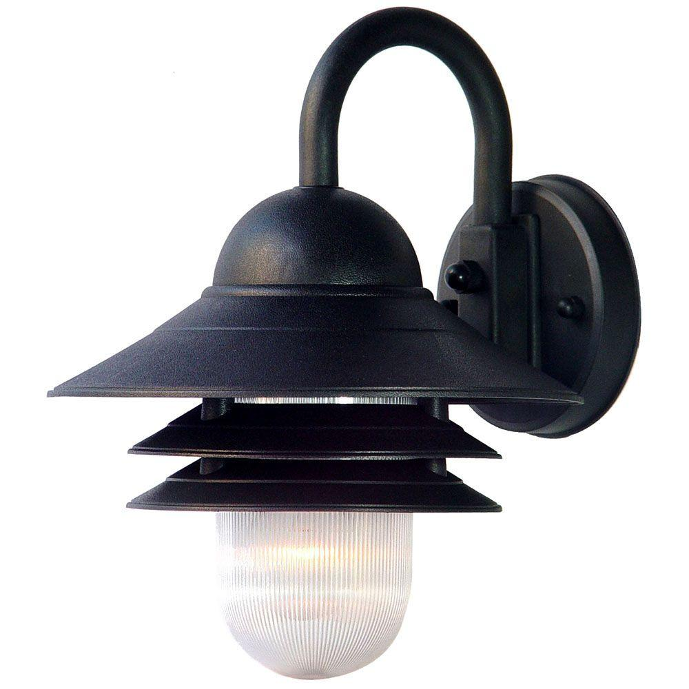 Acclaim Lighting Mariner Collection 1-Light Matte Black ... on Outdoor Lighting Fixtures Wall Mounted id=92853