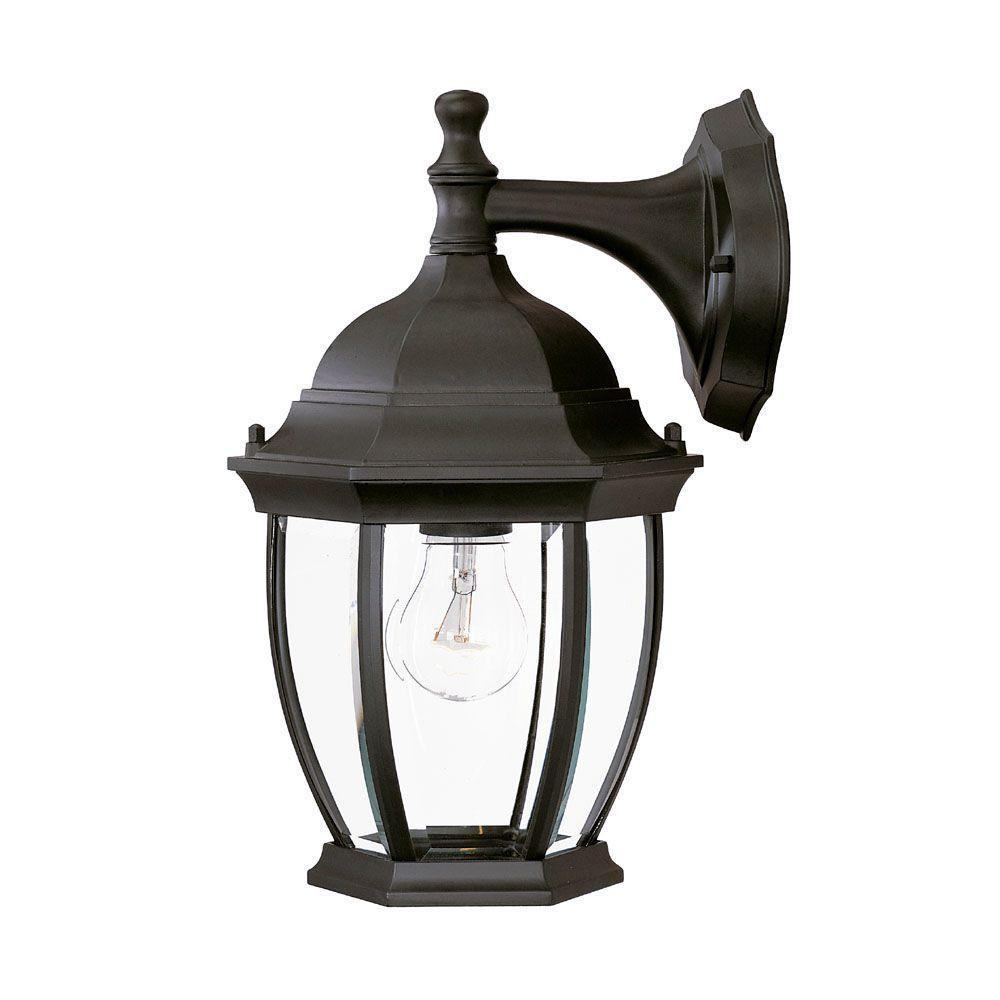 Acclaim Lighting Wexford Collection 1-Light Matte Black ... on Outdoor Lighting Fixtures Wall Mounted id=55714