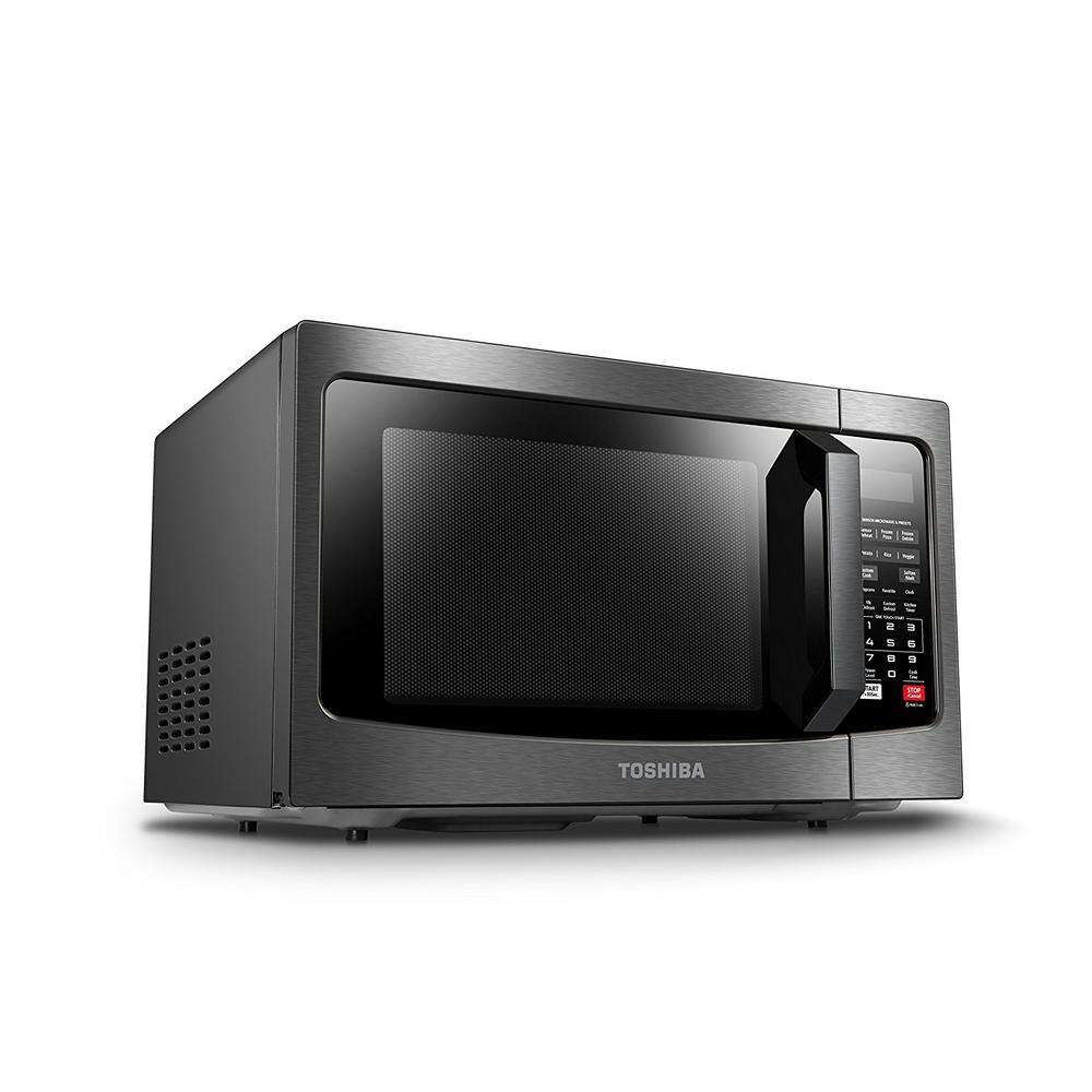 microwave ovens home black stainless