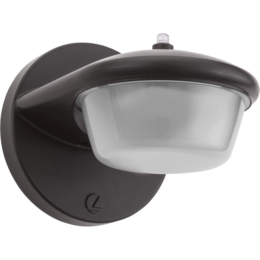 Lithonia Lighting 1-Light Bronze Outdoor Integrated LED ... on Sconce Outdoor Lighting id=15197