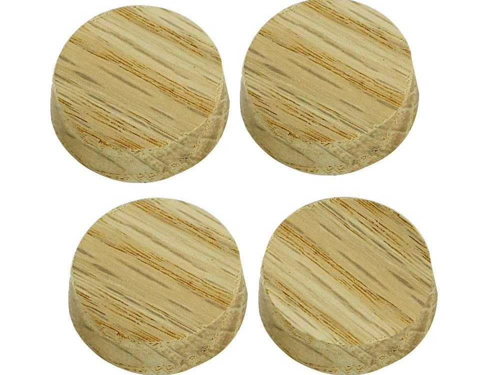 Stair Parts 1 In Unfinished Oak Flat Plugs 4 Pack 9400R 100   Oak Handrail Home Depot   Bending   Handrail Fitting   Iron   6010   Quarter Turn
