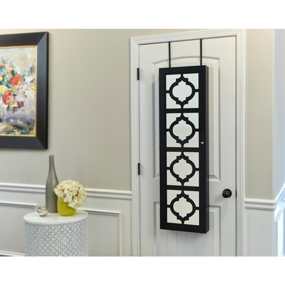 InnerSpace Luxury Products Black Designer Jewelry Armoire