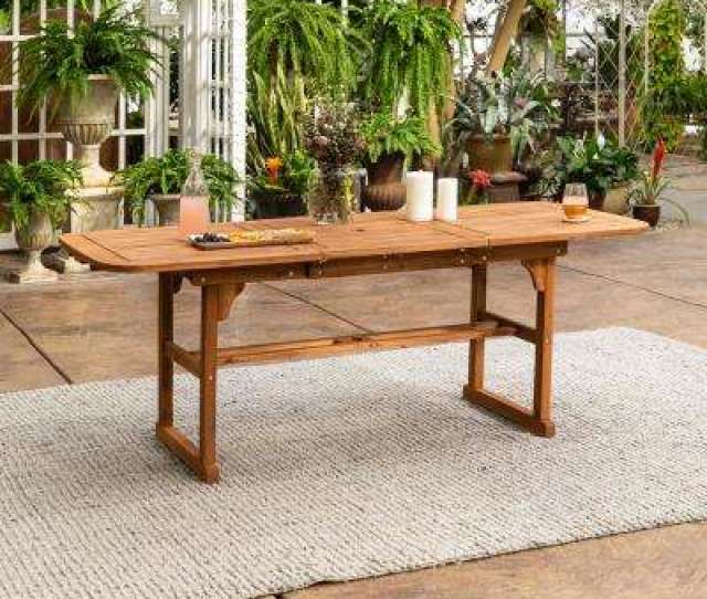 Boardwalk Brown Acacia Wood Extendable Outdoor Dining Table