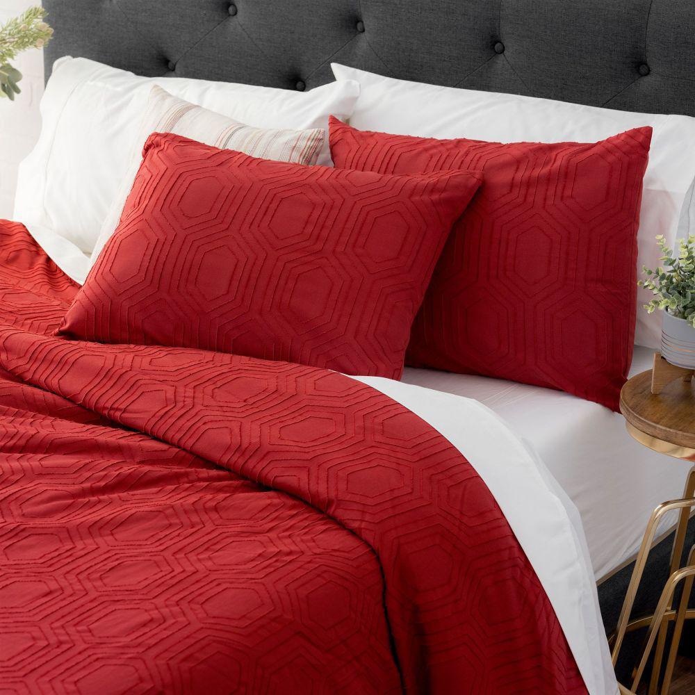 welhome sahara cotton red full queen comforter set ecpgcfsflqn02 the home depot