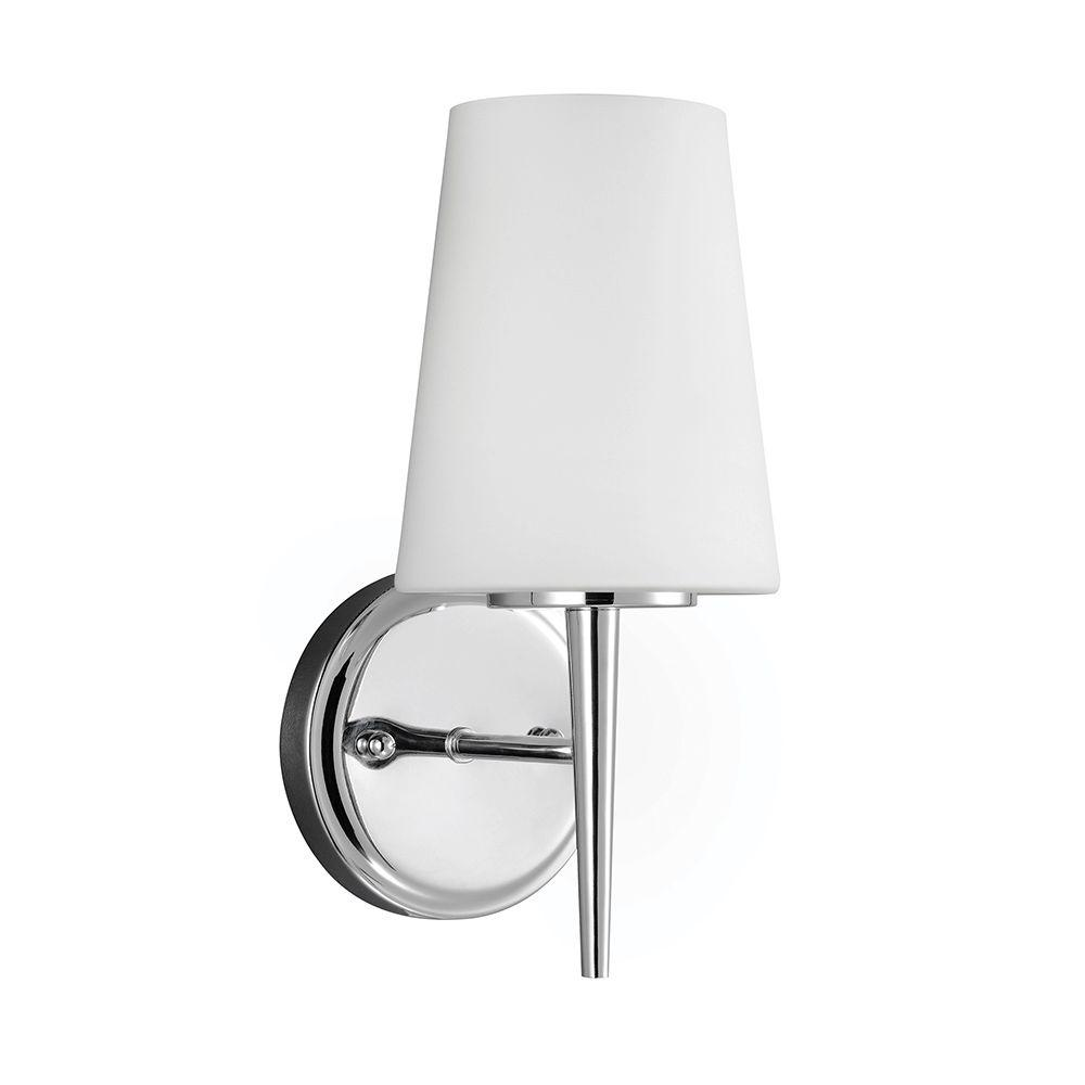 Sea Gull Lighting Driscoll 1-Light Chrome Wall/Bath Sconce ... on Bathroom Wall Sconce Lighting id=51603
