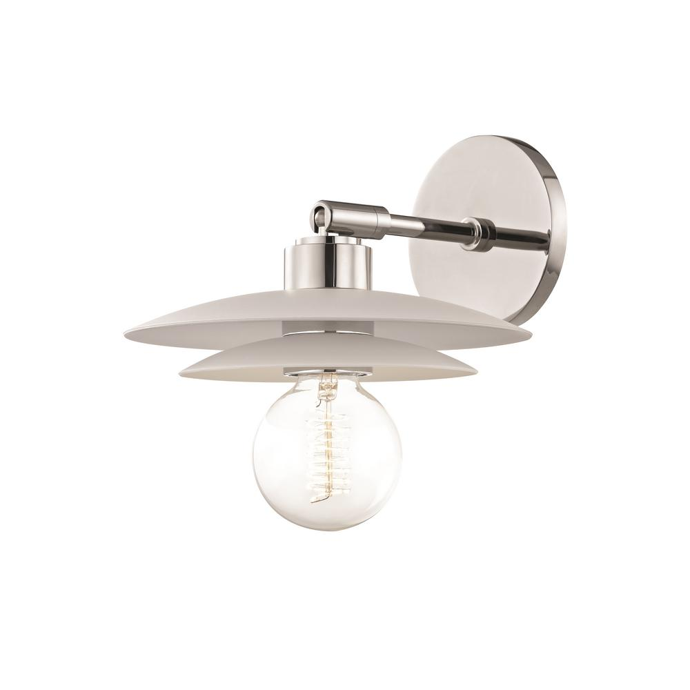 Mitzi by Hudson Valley Lighting Milla 1-Light Polished ... on Small Wall Sconce Light id=13629
