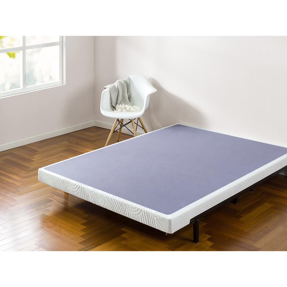 Zinus 4 In Low Profile King Wooden Box Spring HD WDBS 4K