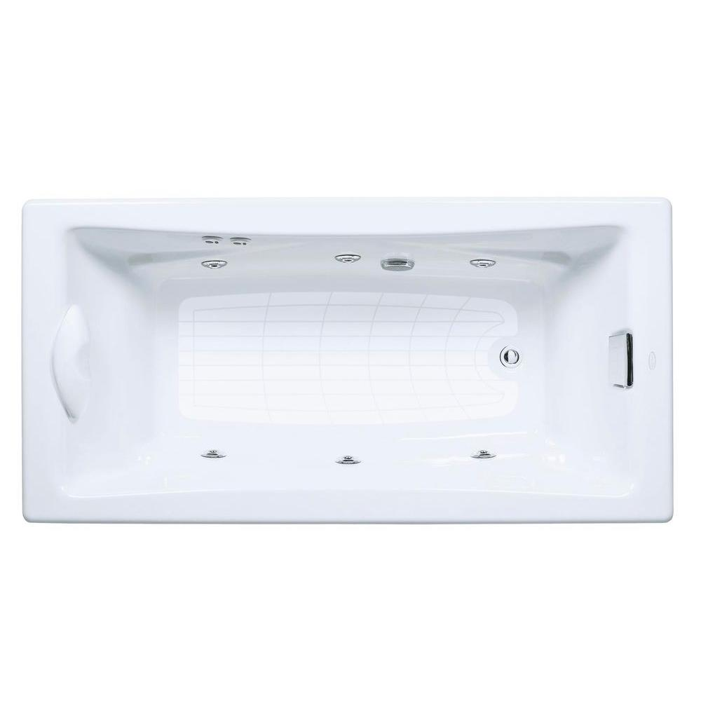 KOHLER Tea For Two 6 Ft Whirlpool Tub With Reversible