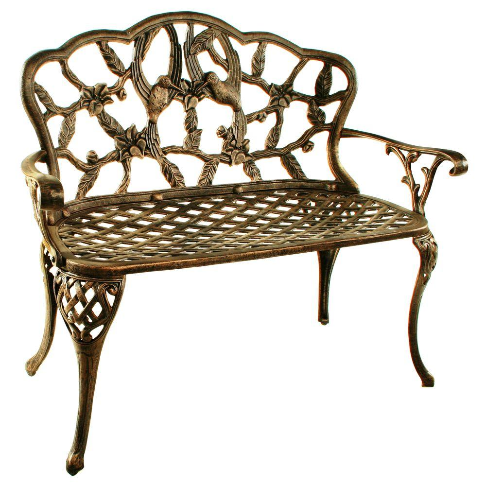 Oakland Living Hummingbird Loveseat Patio Bench-3206-AB ... on Ab And Outdoor Living  id=18508