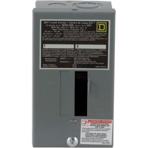 Square D QO 30 Amp 2Space 2Circuit Indoor Main Lug Load CenterQO2L30SCP  The Home Depot