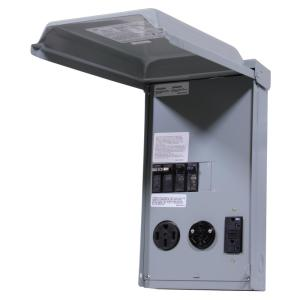 GE 100 Amp 3Space 3Circuit 240Volt Unmetered RV Outlet Box with 503020 Amp GCFI Circuit