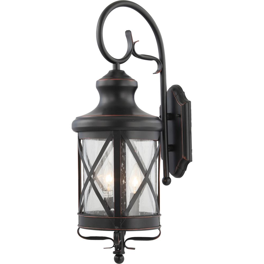 Volume Lighting Small 2-Light Black Copper Aluminum Indoor ... on Small Wall Sconce Light id=36191