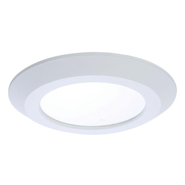 Halo SLD 5 in  and 6 in  White Integrated LED Recessed Ceiling     White Integrated LED Recessed Ceiling Flushmount Light