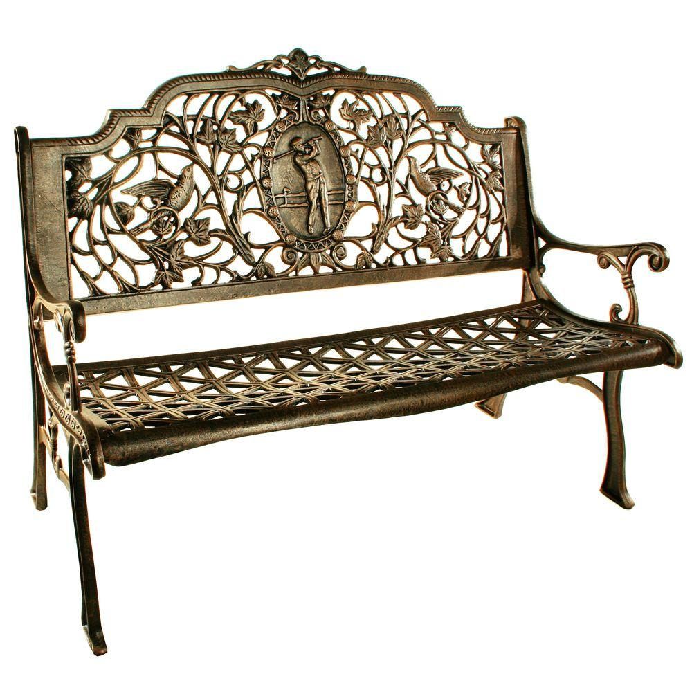 Oakland Living Golfer Patio Bench-6004-AB - The Home Depot on Ab And Outdoor Living  id=11392
