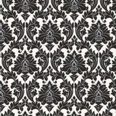 Black White   Wallpaper   Decor   The Home Depot Majestic Black Removable Wallpaper