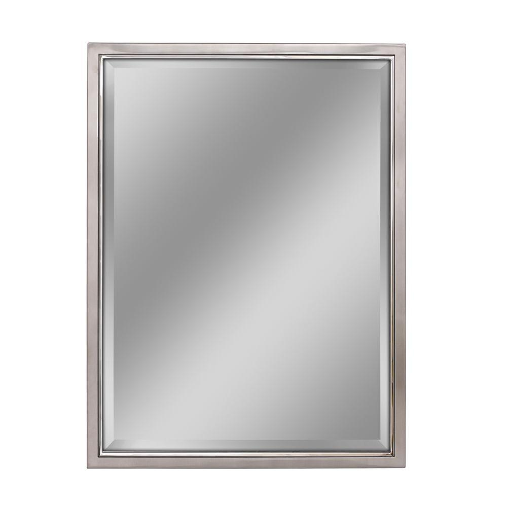Deco Mirror 30 In W X 40 In H Classic Metal Framed Wall