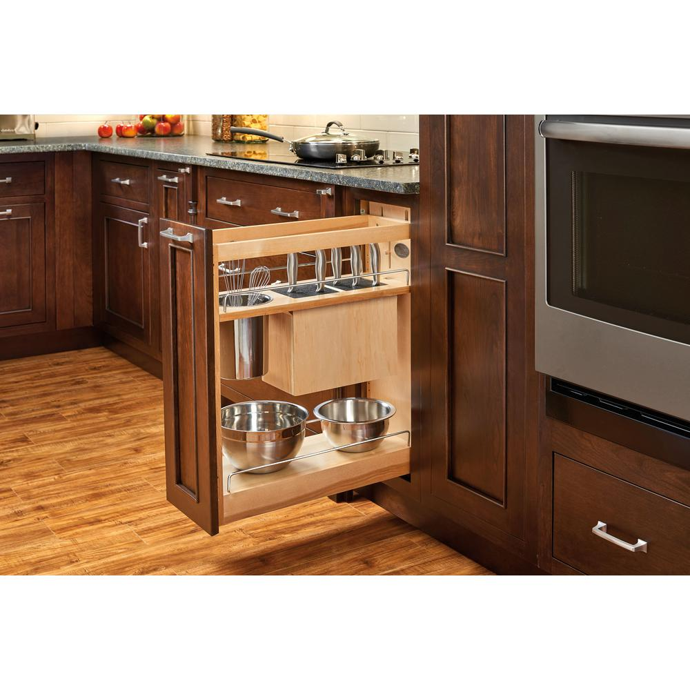 Best Kitchen Gallery: Rev A Shelf 25 5 In H X 8 In W X 21 56 In D Pull Out Wood Base of Kitchen Base Cabinet Organizers on rachelxblog.com