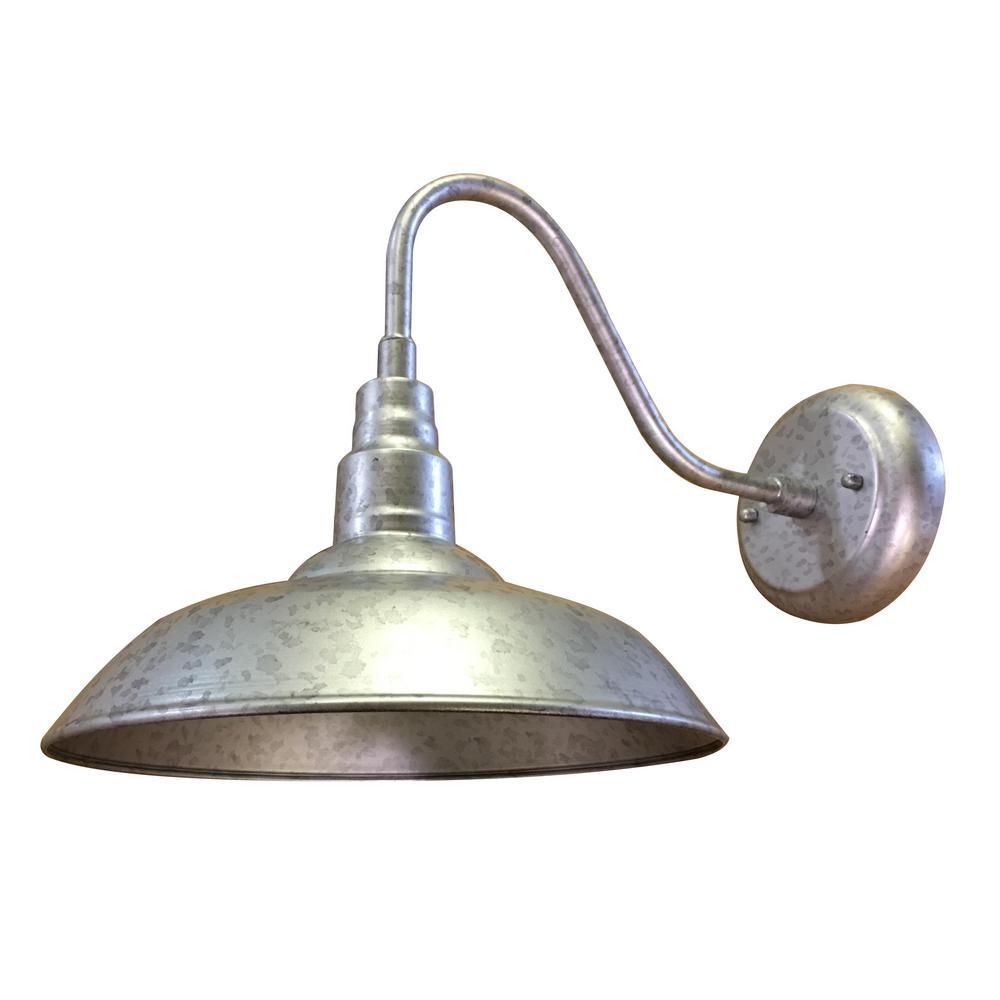 y decor lora 1 light galvanized finish outdoor wall mount on Galvanized Barn Light id=14828