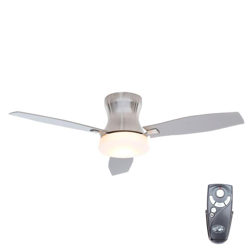 Petersford 52 in led brushed nickel ceiling fan my home gallery how to install a ceiling fan with savannah integralbook mozeypictures Choice Image