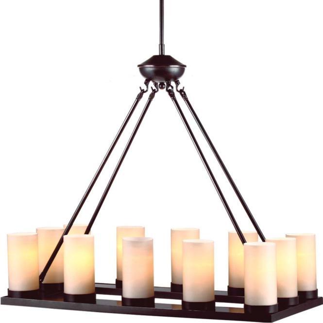 Sea Gull Lighting Ellington 12 Light Burnt Sienna Single Tier Chandelier With Glass Shade 31588 710 The Home Depot