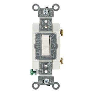 Leviton 20 Amp SinglePole AC Quiet Toggle Switch, White