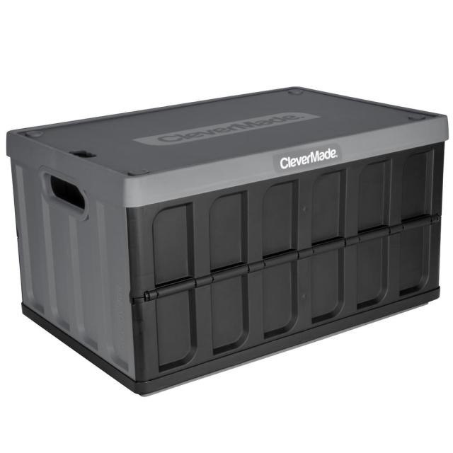 Clevermade Collapsible Storage Crate With Lid