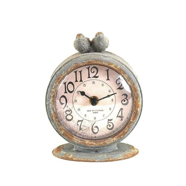 3R Studios Two Birds Round Table Clock DA3835   The Home Depot 3R Studios Two Birds Round Table Clock